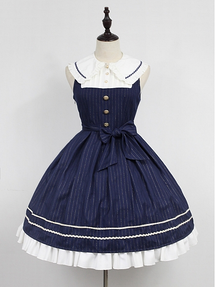 Custom Size Available Wide Peter Pan Collar Academy Lolita JSK - Morningstar Idol Academy by Souffle Song